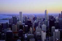 skyline-Chicago-sunset